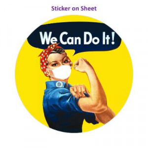 Modern Version Covid We Can Do It Rosie The Riveter Mask