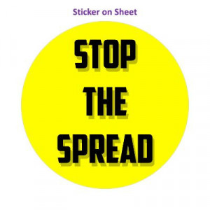 Stop The Spread Yellow Bright