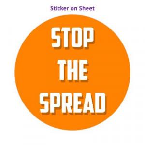 Stop The Spread Orange Bright