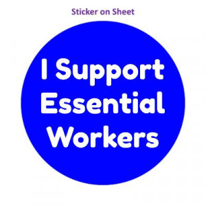 I Support Essential Workers Blue Medium