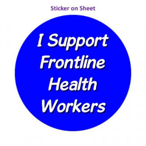 I Support Frontline Health Workers Medium Blue