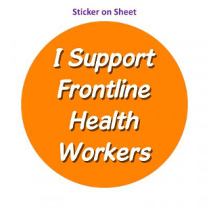 I Support Frontline Health Workers Orange Bright