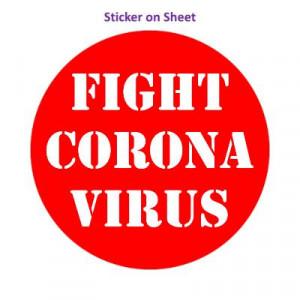 Fight Coronavirus Red Stencil