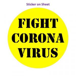 Fight Coronavirus Yellow Stencil