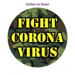 Fight Coronavirus Camouflage Stencil