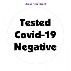 Tested Covid 19 Negative Bold White