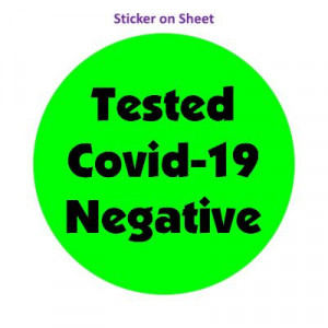 Tested Covid 19 Negative Bold Bright Green