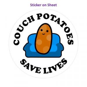 Couch Potatoes Save Lives Smiley Potato