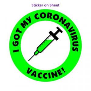 Needle Green I Got My Coronavirus Vaccine