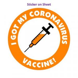 Needle I Got My Coronavirus Vaccine Orange