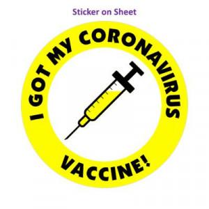 Yellow I Got My Coronavirus Vaccine Needle