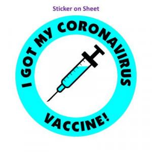 Aqua I Got My Coronavirus Vaccine Needle