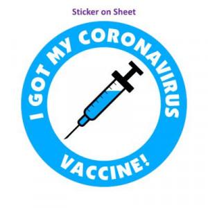 Blue I Got My Coronavirus Vaccine Needle