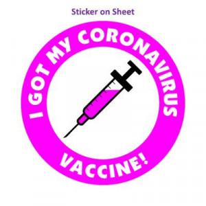 Magenta I Got My Coronavirus Vaccine Needle