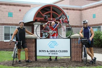 Dr. Alexander and Dr. Cywinski raise money for youth centers during a 2,500 mile bike trip