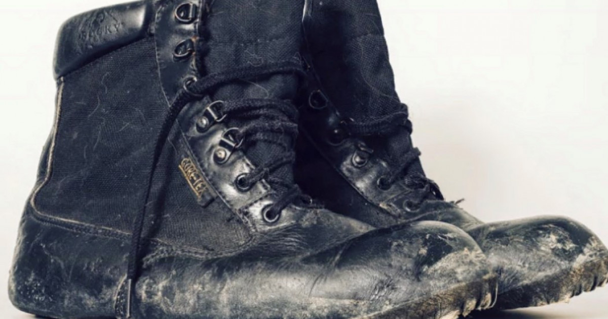 Scuffed boots tell incredible story of last survivor pulled from 9/11 rubble