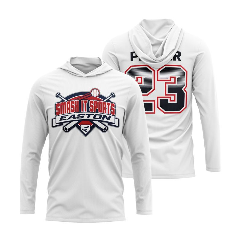 Long Sleeve Hooded Subdye T-Shirt w/ Number