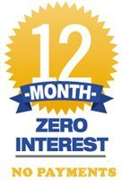 12 Month Zero interest financing on replacement windows