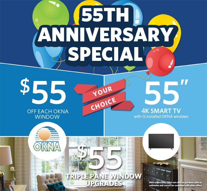 Save Big During Wonder Windows 55th Anniversary Sale