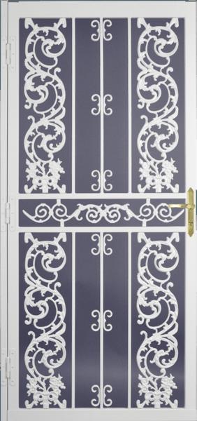 Steel Security Storm Door Bird-of-Paradise Style