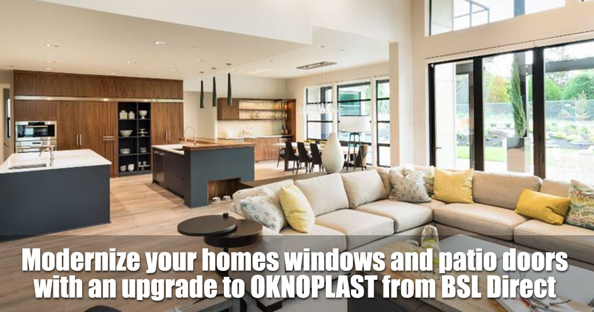Modernize Your Home with OKNOPLAST Windows and Patio Doors