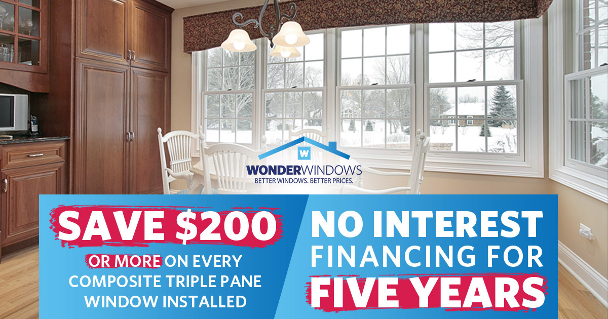 No Interest Financing for Up to 60 Months on New Windows