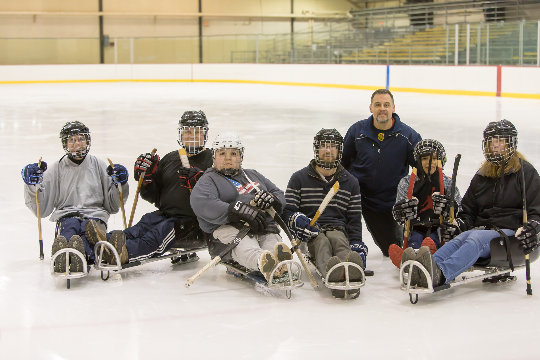 Rochester Sled Hockey Clinic with Rochester Accessible Adventures