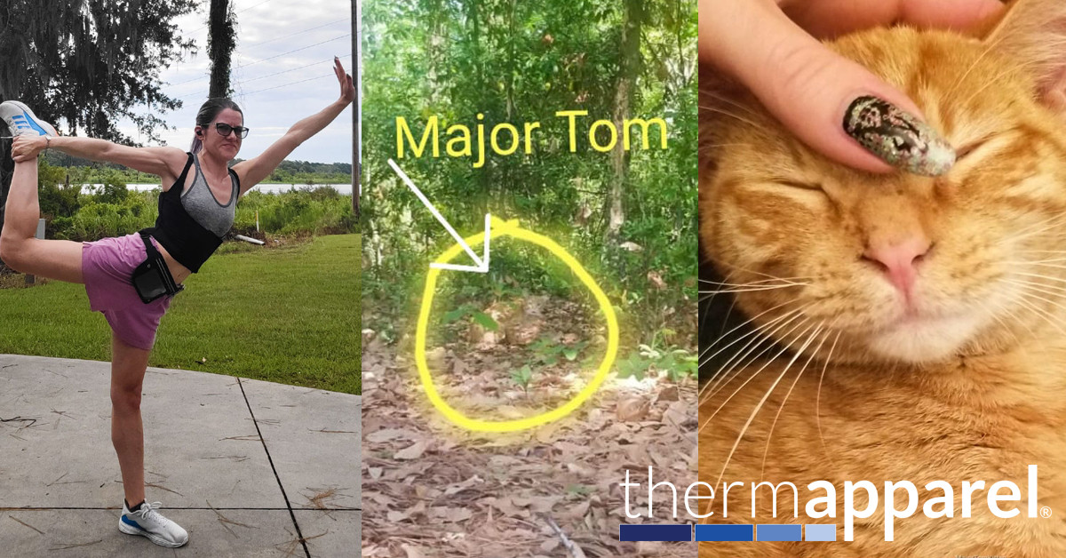 ThermApparel Testimonials - Now I Can - Cool Stories from Cool Customers - Tiffany Tallent and Major Tom