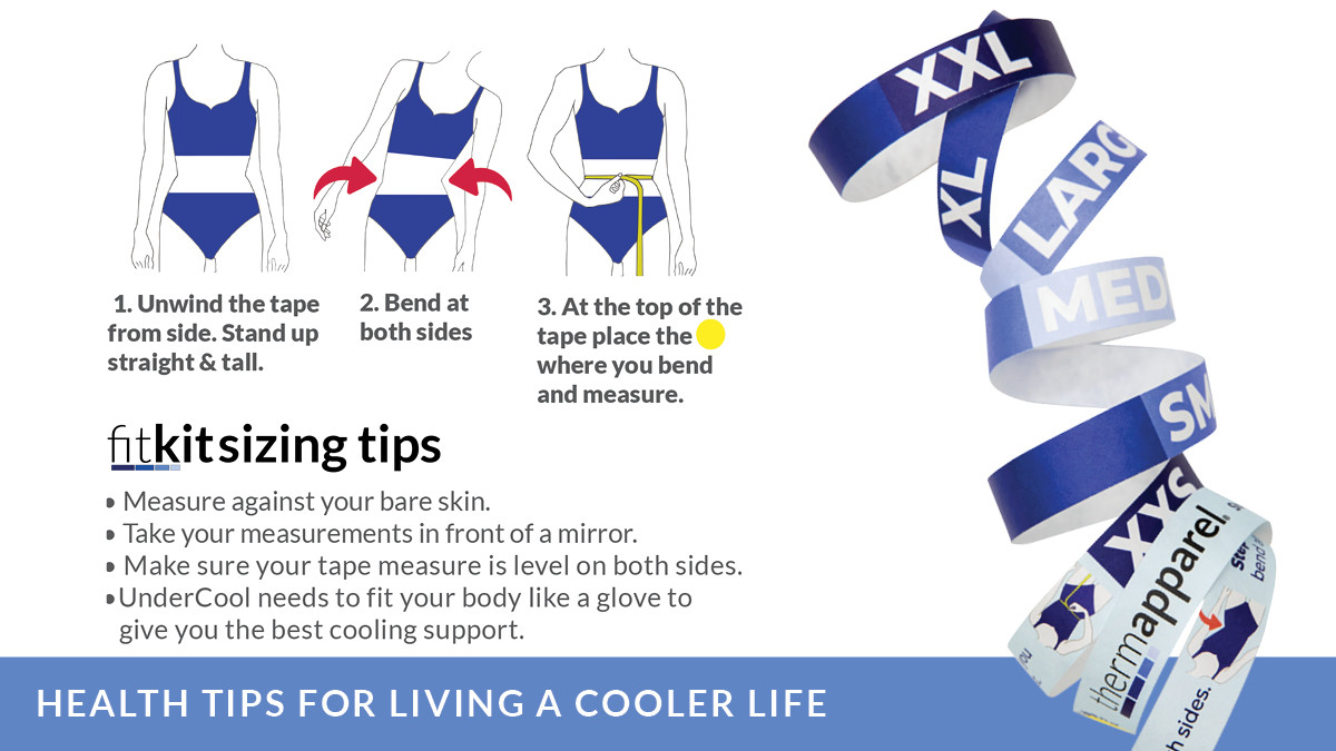 FitKit how to find and measure your natural waist for a ThermApparel UnderCool Cooling Vest