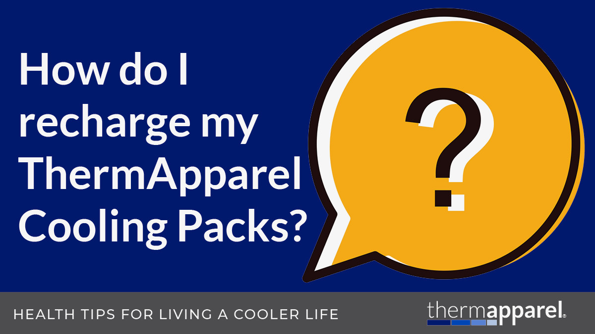 How to recharge ThermApparel Cooling Packs