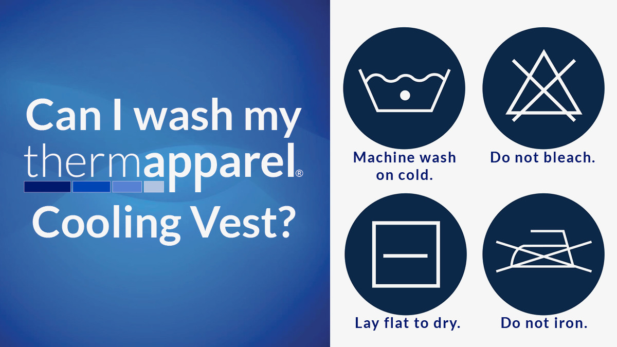 Are ThermApparel UnderCool Cooling Vests machine washable?