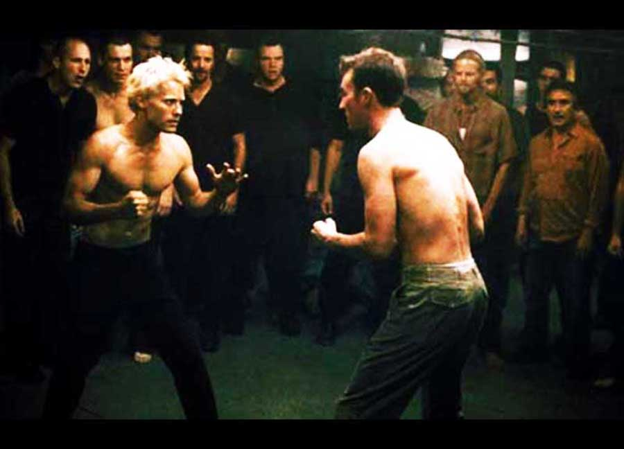 Fight the patriarchy!   Jared Leto and Edward Norton in Fight Club.  Photo courtesy of Fox 2000 Pictures.