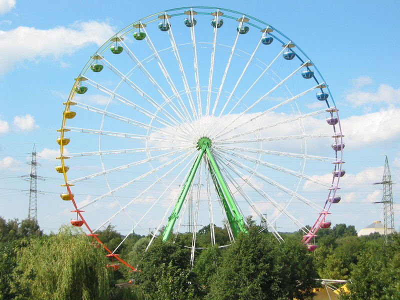 Ferris wheel in Centro Park in Oberhausen, Germany.