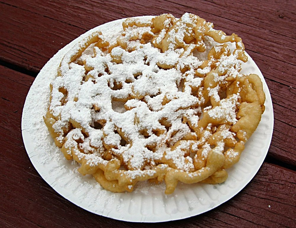 See this fluffy piece of heaven? Funnel cakes with powdered sugar on top are God's Southern gift to the world.
