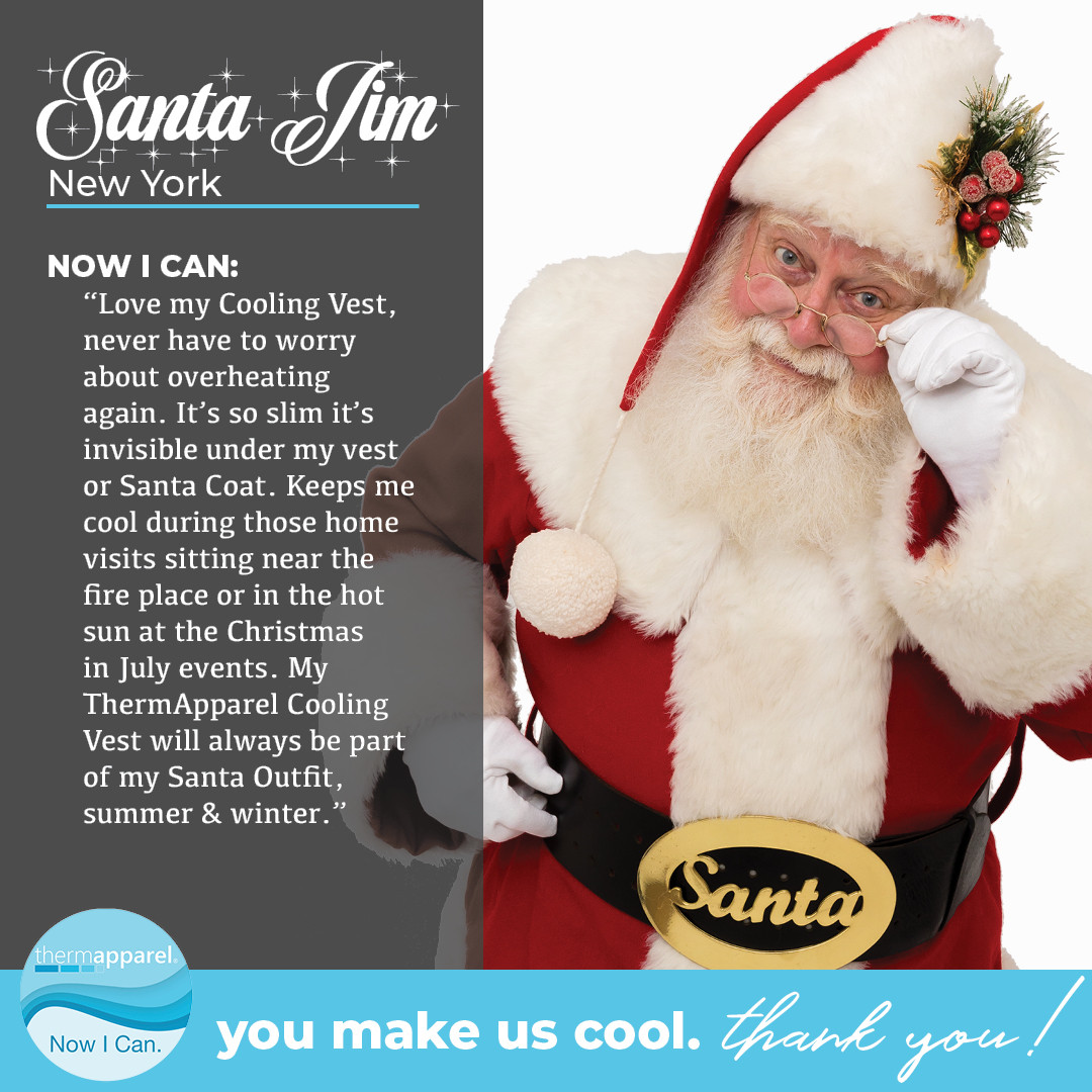 Cooling Vests for Santa or How does Santa keep his cool?