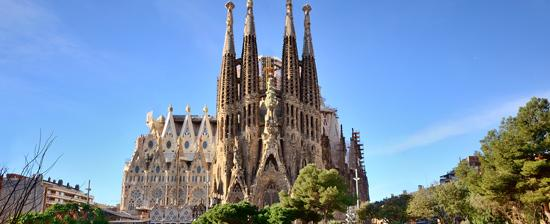 La Sagrada Familia Basilica in Barcelona, Spain.