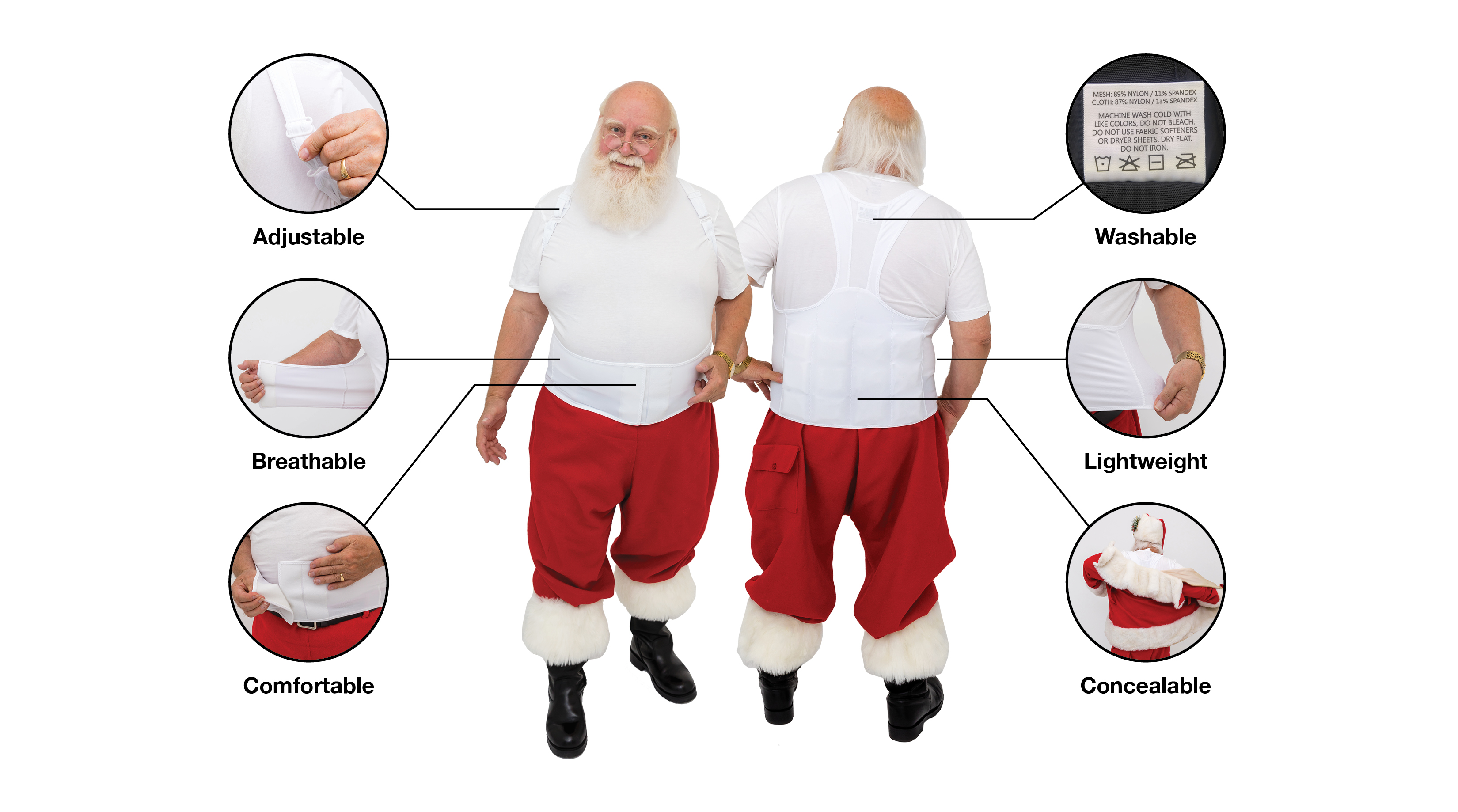 Santas have more concentrations and less fatigue with ThermApparel Cooling Vest