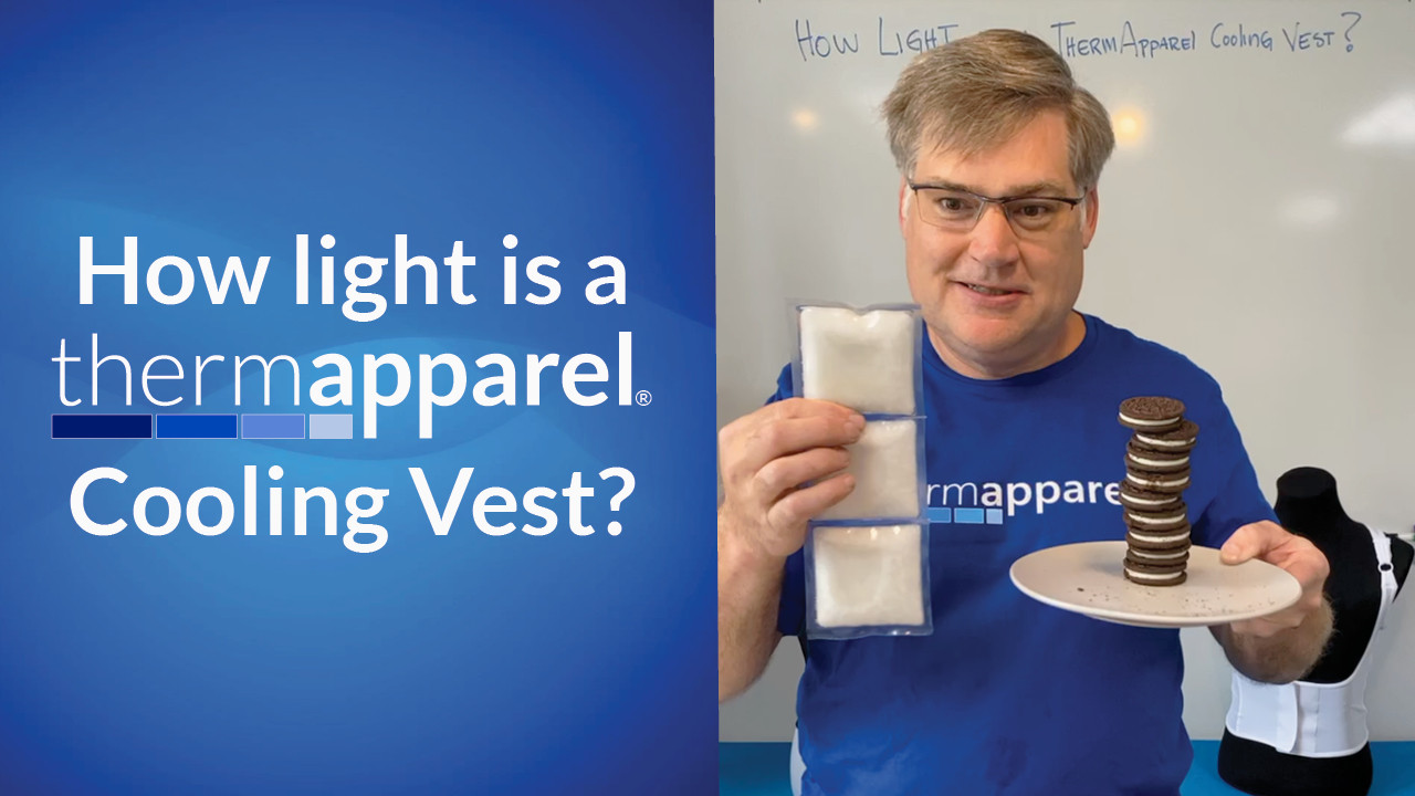 How much does a ThermApparel Cooling Vest weigh?