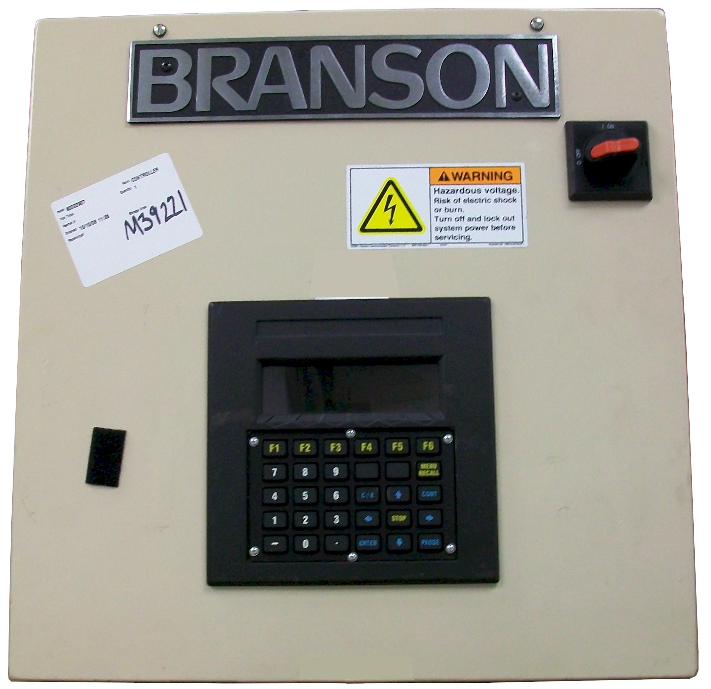 Branson SW200 Spin Weld Controller Repairs