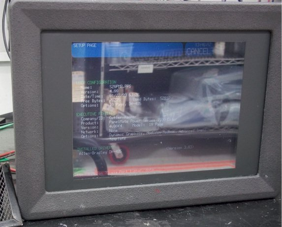 Cutler Hammer 1570THX Operator Interface Touch Screen Color Dual Scan PanelMate Repairs