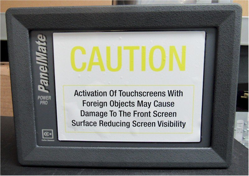 "Cutler Hammer 1775T Operator Interface PanelMate 1700 7.7"" Color Touch Screen"