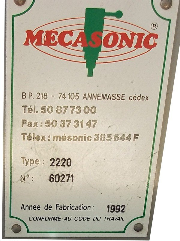 Mecasonic 2220 Ultrasonic Welder Repairs