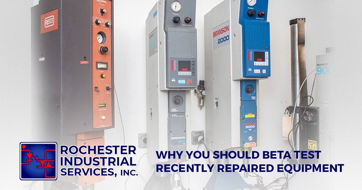 Why You Should Beta Test Recently Repaired Equipment