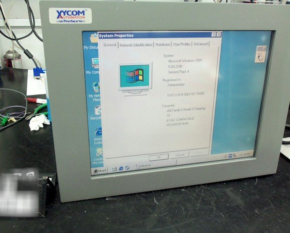 Xycom 3115-T Flat Panel Industrial PC Intel� Celeron� 1.2GHHz CPU processor with 100 MHz FSB and 256 KB CACHE *Repair and Surplus available Call for Pricing!* Repairs