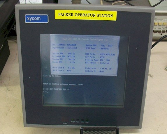 Xycom 9460-713332-TFT-T-F-B Industrial Computer Flat Panel Pentium CPU 133 MHz Repairs