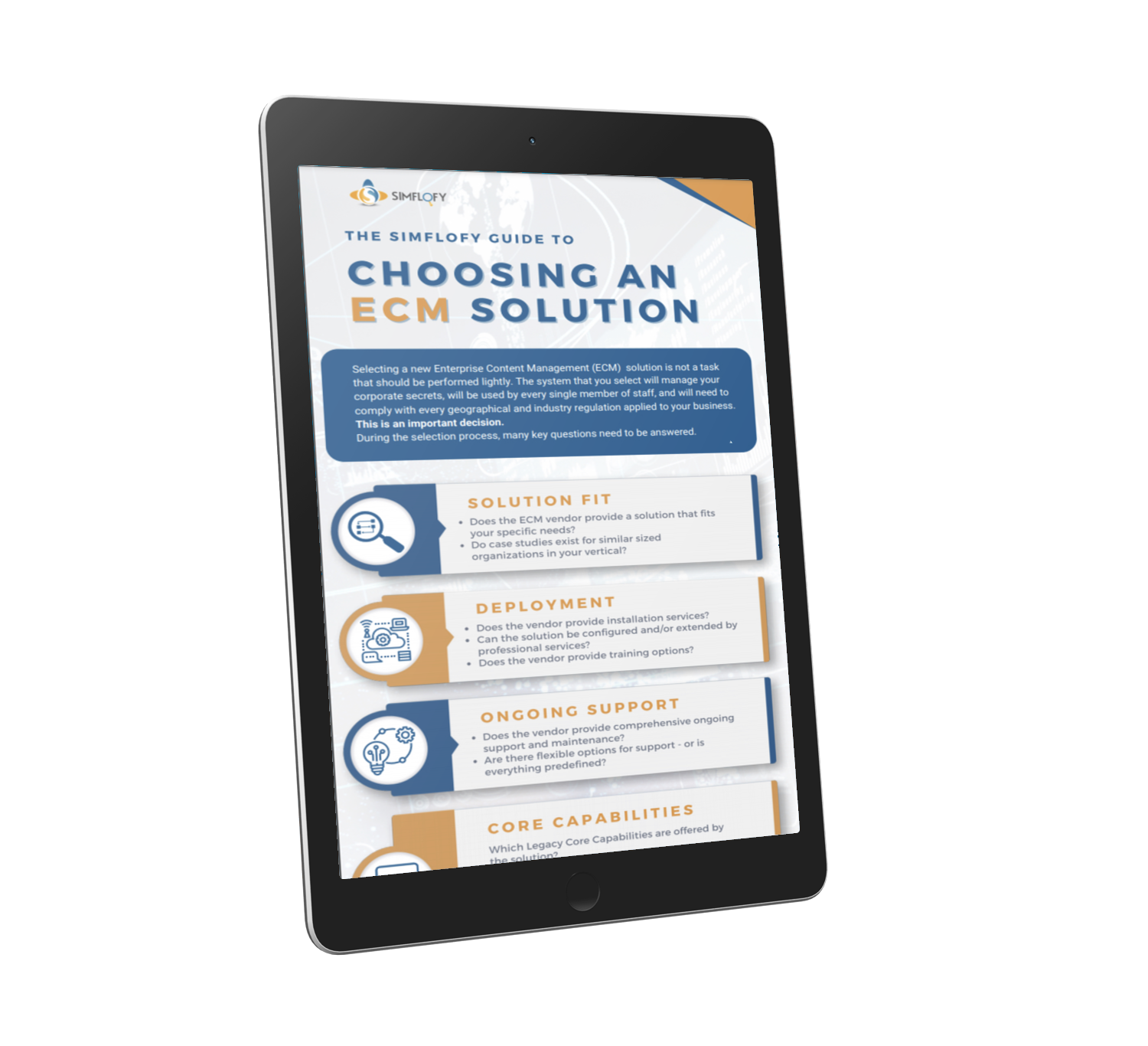 Choosing an ECM Solution - Infographic