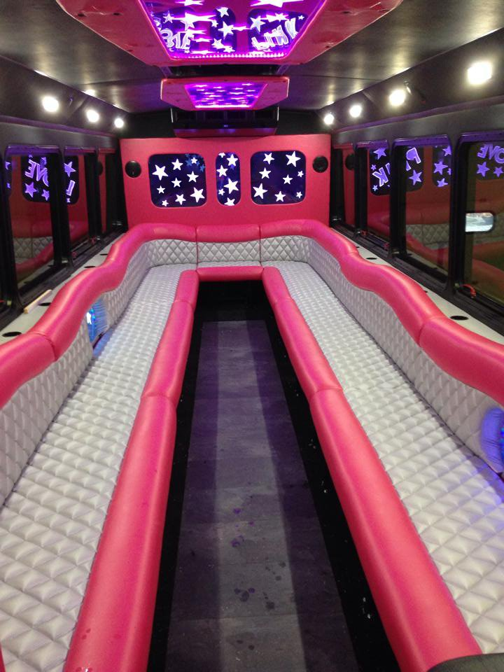 Pink Limo Bus Rental In Buffalo New York