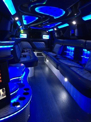 Chevy Tahoe Limo blue interior