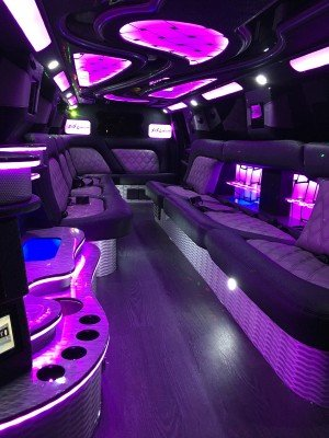 Chevy Tahoe Limo pink interior