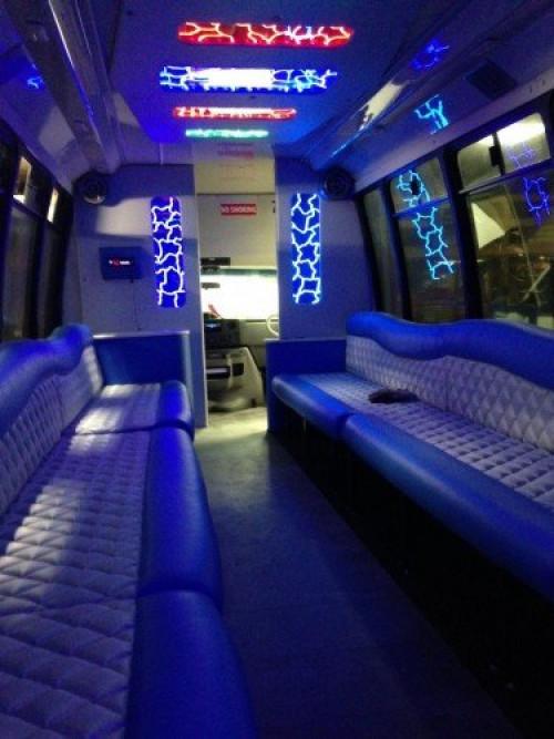 Labatt Blue Limo Bus interior